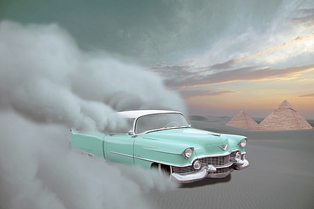 teal and white car illustration