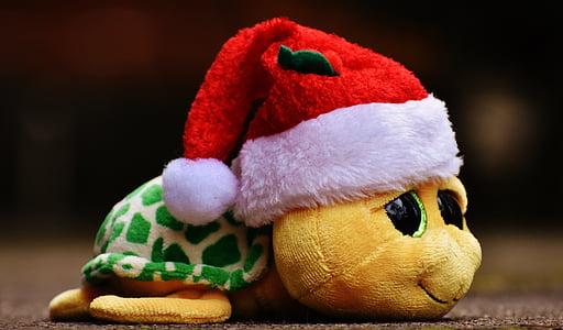 santa frog plush toy