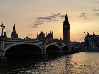 Queen Elizabeth tower view during golden hour