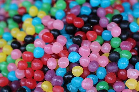 tilt shift photography of jelly beans