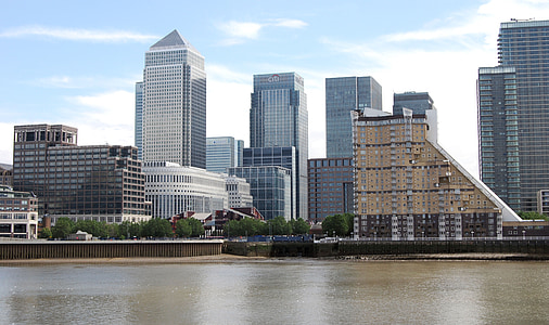 canary wharf, london, business, architecture, cityscape, modern
