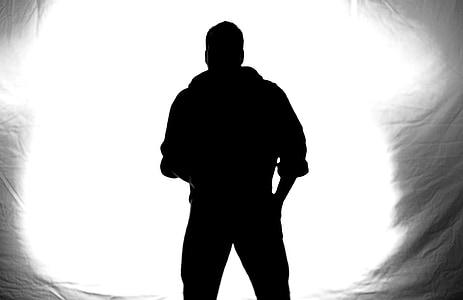 silhouette of a person