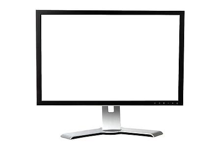 black and gray flat screen monitor