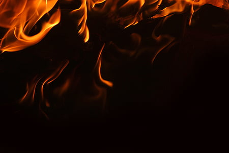 flame with black background