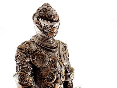 photo of gray knight armor