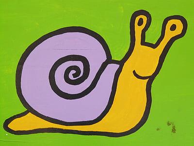 purple and brown snail color sketch
