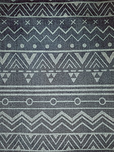 black and grey textile