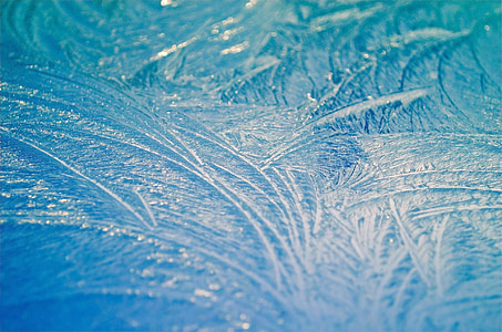 morning, frost, ice, seasons, macro, background