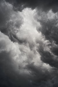 worm's eye view photography of dark clouds