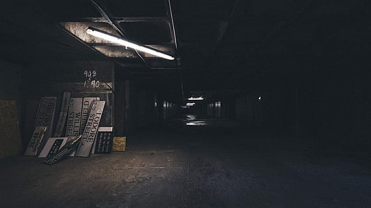 abandoned, alley, building, dark, empty, indoors