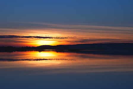 sunset body of water