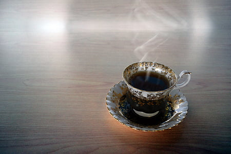 cup filled with black substance