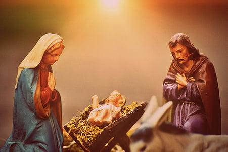 close photo of The Nativity figurine