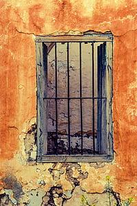 black metal window grille painting