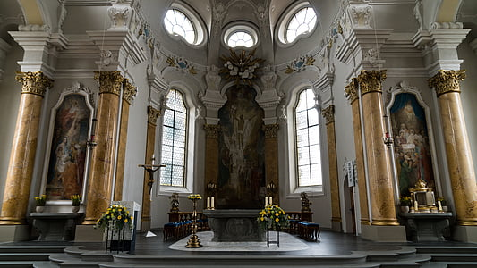 landscape photography of church's altar