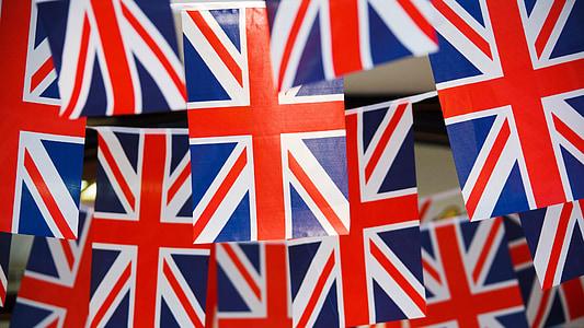 United Kingdom flags hanging