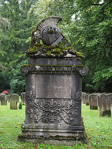 brown tomb stone
