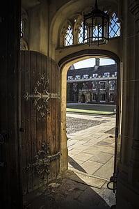 brown wooden door opened inside room