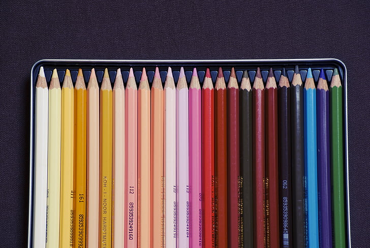 assorted-color color pencil set with case