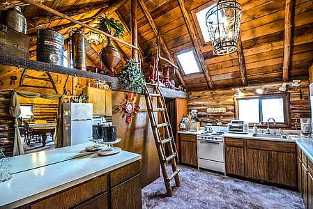 brown wooden house interior photo