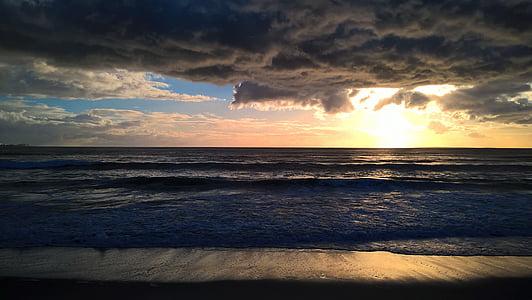 body of water over the horizon