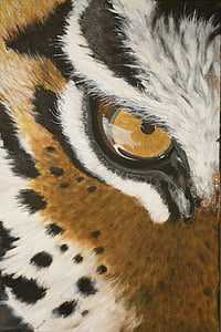 closeup photo of tiger eye