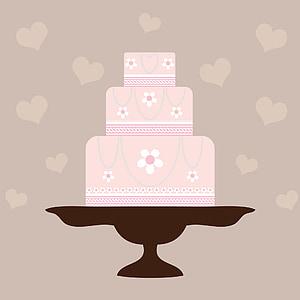 floral cake illustration