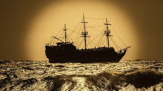 black galleon ship
