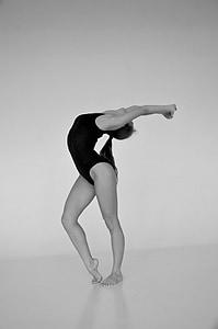 balerina woman stretching