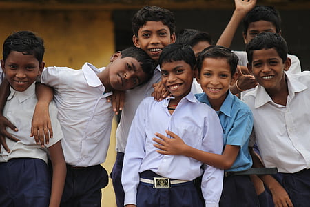 group of boy wearing collared shirts