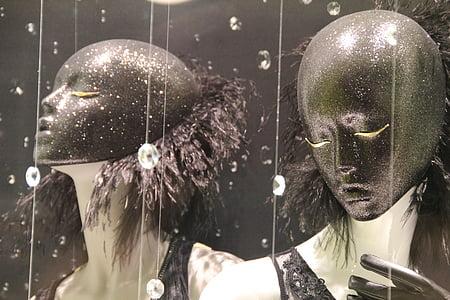two black mask illustration