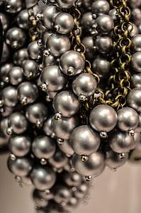 closeup photo of gray pearl accessory