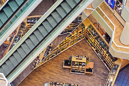 bird's eye view of library