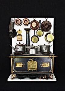 black cast iron stove