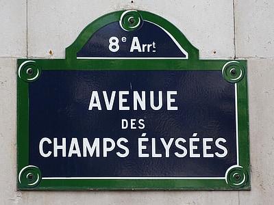 Avenue Des Champs Elysees sign