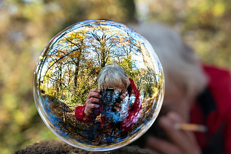 photographer, hobby, profession, glass ball, leisure, leisure activity