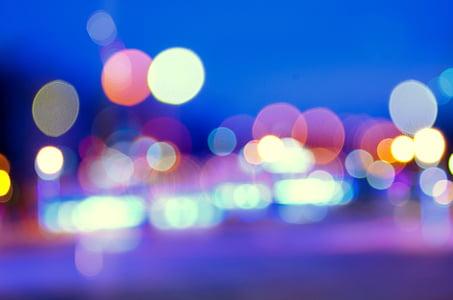 bokeh, light, street, lighting, sky, night