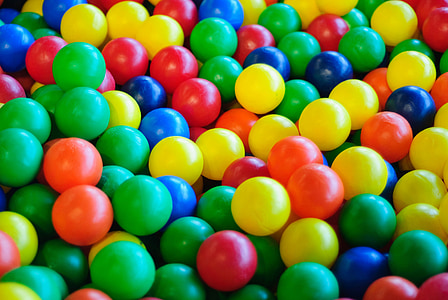 assorted-color plastic ball lot