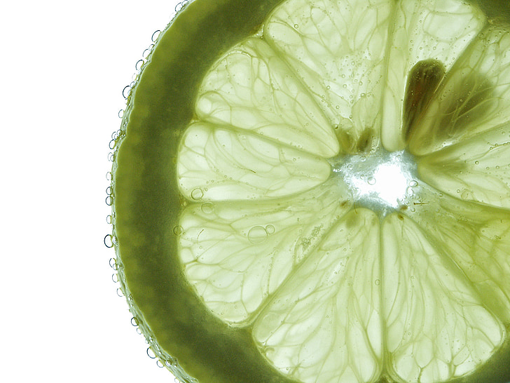 macro photography of green sliced fruit