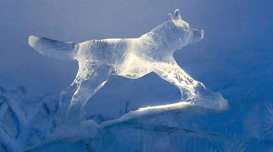 Werewolf ice decor