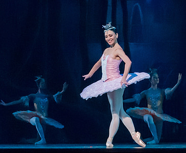 ballerina performing on stage