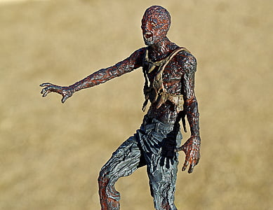 zombie walking on land