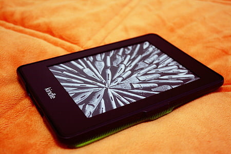 black Amazon Kindle ebook reader