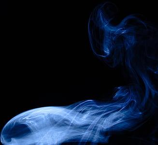 blue smoke digital wallpaper