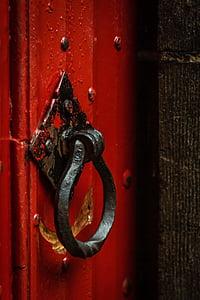 black metal door knocker