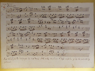 white musical note paper