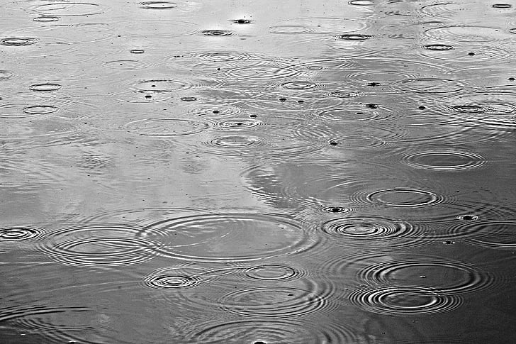 water drops on body of water