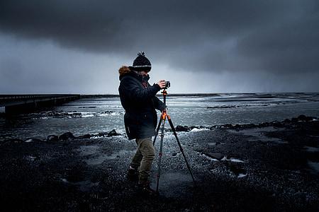 photographer, tripod, camera, equipment, photography, photo