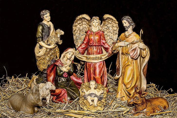 Nativity scene figurine set
