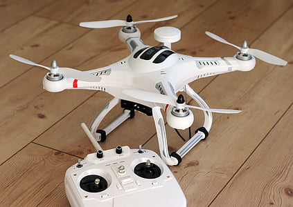 drone and RC on floor